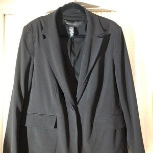 Apostrophe Black Blazer Plus Size
